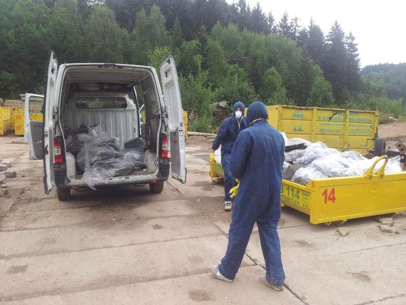Odvoz odpadu z vyklízení bytu